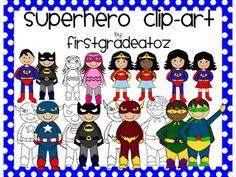First Grade A to Z: Superhero Envy,Clipart, Units, and Freebies! Superhero School Theme, Superhero Classroom Decorations, School Themes, Classroom Themes, Classroom Organization, School Ideas, Superhero Room, 2nd Grade Classroom, Classroom Design