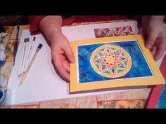 Práce s maskovací hmotou Plastic Cutting Board, Mandala, Mandalas