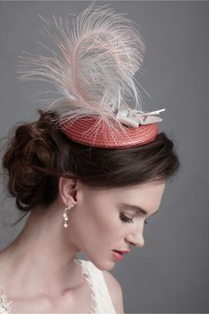 I'll never wear a fascinator but a big part of me wishes that I could....  BHLDN fascinator