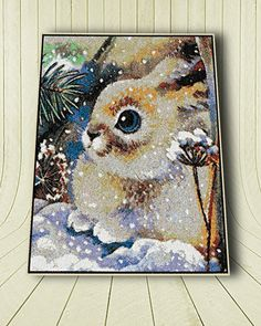 Hare embroidery pattern, embroidery for home decor