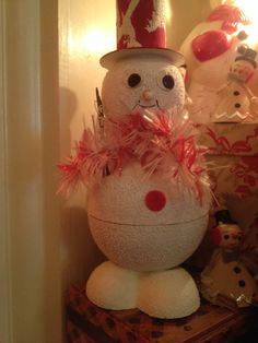 """Antique """"Snowman """"Candy Container."""