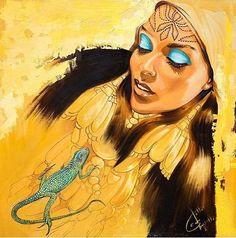 Fattah Hallah Abdel. Египетские картины. Принцесса пустыни. 100х100. Холст масло