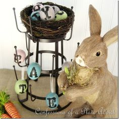 CONFESSIONS OF A PLATE ADDICT French Bottle Drying Rack Dressed for Easter