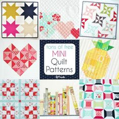 """Have you ever tried to make a mini quilt? I have to say I've been quilting for a few years and I have never made a mini quilt. What is wrong with me? They are so cute, take w-aaay less time, are perfect for wall hangings, and they're the perfect project for that """"instant-gratification"""" crafter! …"""