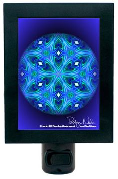 Illuminate your sacred space with this healing mandala night light. Creating mandalas is a form of meditation for me and brings peaceful energy into my heart. Mandalas help awaken the wisdom inside all of us. These sacred, healing circles of wisdom have been used for centuries in Hindu, Buddhist and Native American cultures as meditation tools. Mandala art helps you center and guide you toward inner peace. Made with love by artist Robyn Nola.