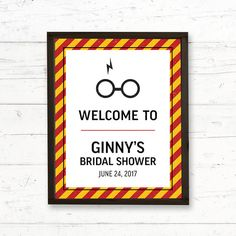 Harry Potter Gryffindor Photo Booth Printable Party Sign by CrissyDesignCo Bridal Bingo, Bridal Shower Games, Bridal Shower Decorations, Baby Shower Games, Shower Baby, Baby Showers, Harry Potter Baby Shower, Harry Potter Wedding, Baby Animal Games