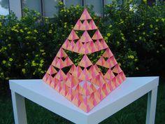 Origami Sierpinski Pyramid.