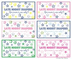 About a year and a half ago, I blogged about four really fun baby shower games & activities from a shower I hosted for a friend. So many of you loved the Late Night Diapers idea and I've gotten several emails asking if I had printable signs for the basket of diapers that are more …