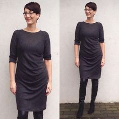 My new gorgeous Karen Dress. Pattern designed by @mariadenmarksewing. The fabric is a fine wool blend knit from @stofdepotet #karendress #KarenDressMariaDenmark #mariadenmark #stofdepotet