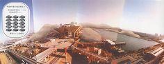 15:残土スケープ 建築現場、土木現場からは大量の残土が発生する。東京都内の工事現場から排出された年間の建設発生土は1996年度で約1800万平方メートルである。これは実に東京ドーム15杯分に相当する量である。現在この残土回収のシステムはバラバラであるが、これらをうまく組織すれば、残土を1カ所(例えば湾岸)に集中させて、ひとつの大きな山をつくることもできる。湾岸から東京を一望のもとに俯瞰できる残土山の提案。(TY)
