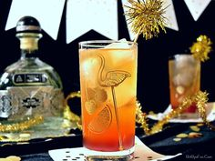 Tequila Sunrise Sparkler - A New Year's Cocktail! With Patron Silver 2016 Limited Edition Tequila, Mandarin Juice, Homemade grenadine and Champagne! | Bit by a Fox Blog
