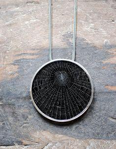 Dollybird Preserved Spider Web Pendant 3 inch by dollybirddesign