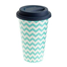 Chevron travel coffee cup