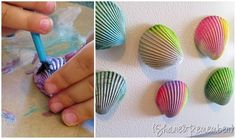 Painted Seashell Magnets {Oceans}