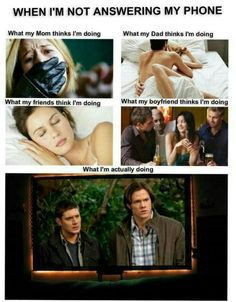 - supernatural <3 too bad I don't have a boyfriend but all the other squares are right