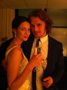 92Y with the dashing @Heughan hubby No.2 x via @CaitrionaBalfe