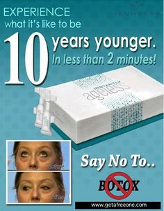 Say No to Botox and Yes to Instantly Ageless.  Order your FREE Sample at www.getafreeone.com
