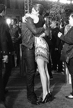Miles and Shai hug