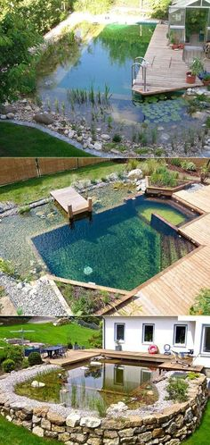 17 natural family swimming pools you'd like to jump into right away Proudly . 17 natural family swimming pools that you want to jump into immediately Pride Natural Swimming Ponds, Natural Pools, Natural Backyard Pools, Natural Baths, Piscine Diy, Kleiner Pool Design, Building A Swimming Pool, Building A Pond, Small Swimming Pools