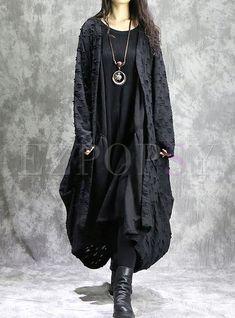 Shop Stylish Loose Asymmetry Hem Coat at EZPOPSY. Alternative Outfits, Alternative Fashion, Cool Outfits, Fashion Outfits, Womens Fashion, Alexander Mcqueen, Mori Fashion, Mein Style, Yamamoto