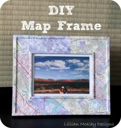 This is kinda cool, use it for those vacation pictures you are storing.  Map picture frame