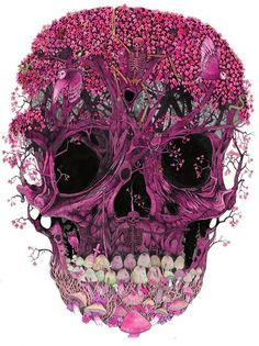 pink skull - it has mushroomteeth!