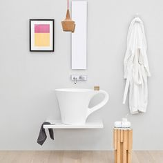A part of the One Shot Collection. Just as the name suggests, the One Shot Cup Countertop Washbasin draws its inspiration from commonly used kitchen glassware. The unique shape of this coffee-cup-inspired bathroom sink will add an instant focal point in luxury bathrooms. Pairs with a wall-hung or even floor-mounted modern faucet to complete modern bath spaces. Unique and modern shape.Made from durable and sanitary ceramic. Please allow 12-14 weeks for delivery.