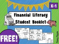 """Black and White student booklet (3 sheets) to introduce K - 1 TEKS  new """"Financial Literacy"""" vocabulary.   For K-1 posters of important vocabulary and concepts to accompany this free product see my  Financial Literacy Vocabulary Poster and Word Wall SetE  See all my other Coin and Financial Literacy Products!"""