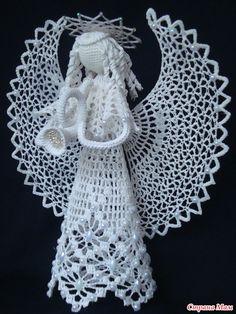 Новогодний мегахваст 2014!!! Много фото.  Angel, nice Crochet Angel Pattern, Crochet Angels, Crochet Doily Patterns, Thread Crochet, Crochet Designs, Knitting Designs, Crochet Doilies, Easter Crafts, Christmas Crafts