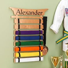 Amazon.com: Personalized Karate Belt Display Rack - Martial Arts: Sports & Outdoors