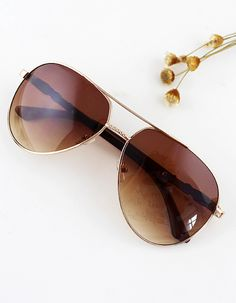 Gafas de sol 2015 de moda PC mujer-(Sheinside)