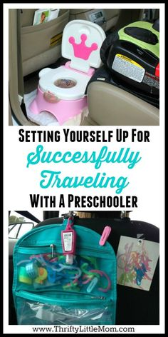 Setting Yourself Up For Successfully Traveling with a Preschooler.  If you've got a road trip coming up this post offers some great tips on how to keep your preschooler happy, fed and occupied on long car trips!