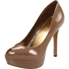 A nude shoe will go with just about any outfit and gives the illusion of longer legs.
