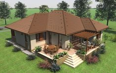 Album Archive – Family House 2 – Tent – Dina Mendez Arroyo – Join the world of pin Village House Design, Village Houses, Model House Plan, Dream House Plans, House Roof, Facade House, House 2, Style At Home, Beautiful House Images