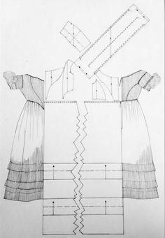 1840er/50er Abendkleid