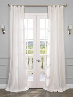 Signature Antique Lace French Linen Sheer Curtain - SKU: SHLNCH-GB1001032 at https://halfpricedrapes.com