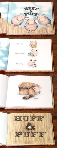 Huff & Puff by Claudia Rueda. Can you blow down the houses of the Three Little Pigs?