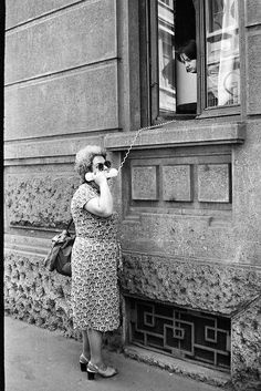 The days before mobile phones- captured in black  white