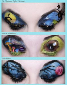 Make Up Art by Katie Alves:  Nightmare Before Christmas, Alice in Wonderland, and Snow White
