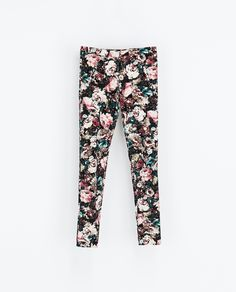 ZARA - WOMAN - FLORAL PRINT TROUSERS WITH PIPING