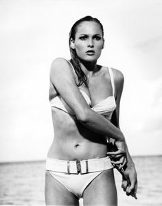 Ursula Andress in a scene from Dr. No. Also starring Sean Connery.