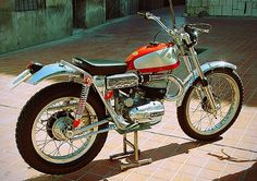 Lovely looking Bultaco Sherpa Trials bike made road legal.
