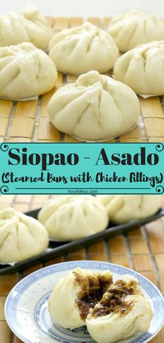 Try this easy recipe for Siopao - Asado (Steamed buns with chicken Asado filling).