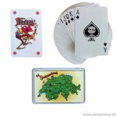 Poker Karten SWITZERLAND - Schweizerkarte / Poker cards SWITZERLAND - Swiss Card are practically take away on holiday. Swiss Card, Poker, Switzerland, Baby, Games, Holiday, Children, Vacations, Infants