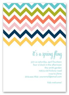 If Zig-Zags And Stripes Had A Love Child The Result Would Be These Colorful Chevron Invites