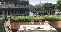 For the best views in the Rome, get up to a rooftop and make sure you've got a drink in your hand