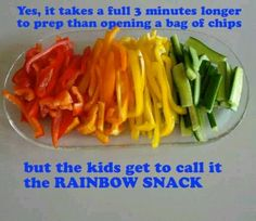 Rainbow snack kids love