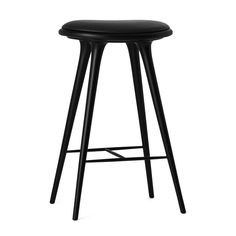 Mater High Stool, Black Stained Hardwood