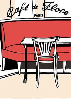 Artist Penelope Rolland Café de Flore / Paris