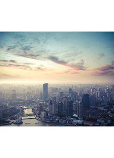 Photographic Print: A Bird's Eye View of Shanghai at Dusk by chuyuss : Seattle Skyline, New York Skyline, Photography Institute, Books For Self Improvement, Sun Photo, Themes Photo, Free Photography, Photo Studio, Dusk